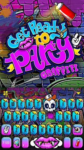 Party Graffiti Keyboard Theme 1.0 screenshots 3