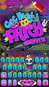 Party Graffiti Keyboard Theme 3
