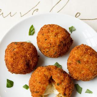 Arancini with Smoked Mozzarella and Basil Recipe