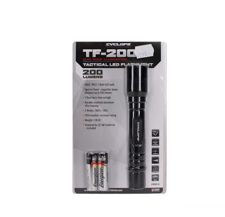 CYCLOPS TF-200 tactical flashlight.