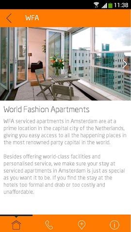 android WFA Serviced Apartments Screenshot 1