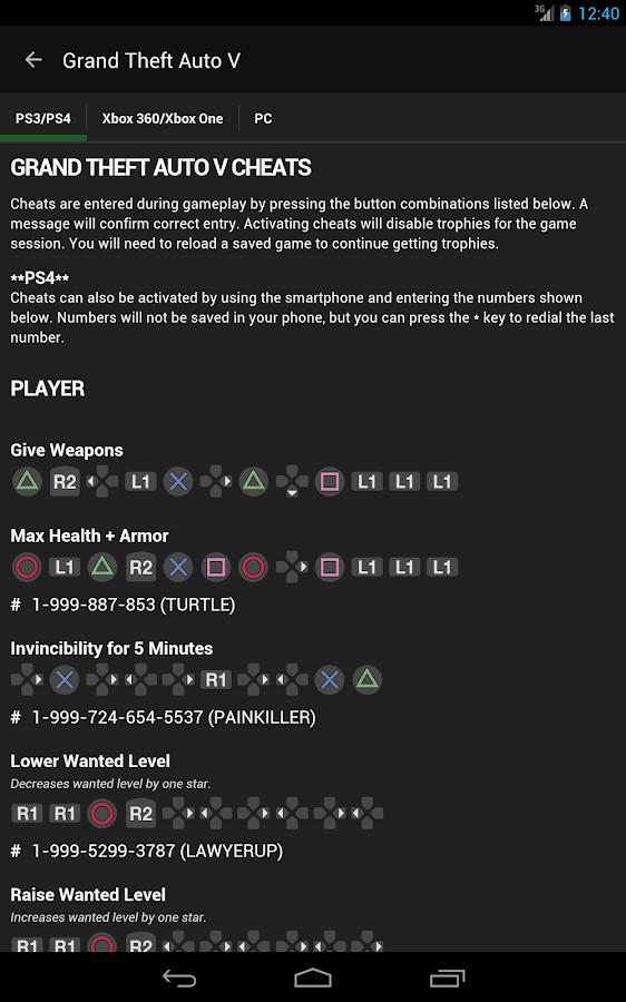 Cheats for GTA- screenshot