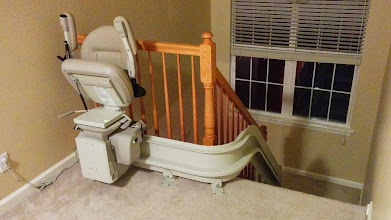 Photo: Curved Stairlift New Jersey