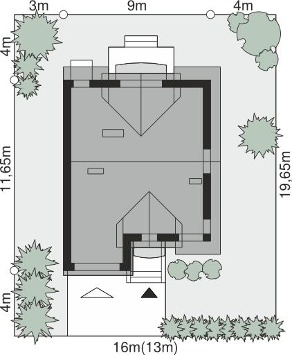 Dom przy Amarantowej - Sytuacja