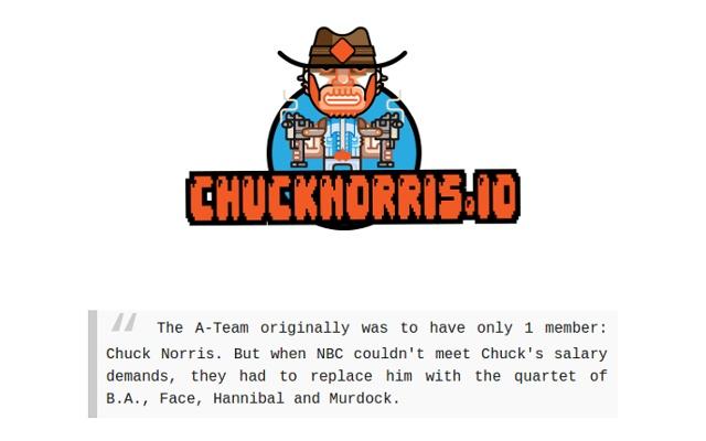 Chuck Norris Facts - chucknorris.io
