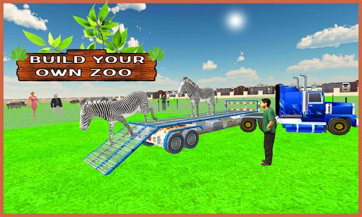 Zoo Animals Transport Truck 3d