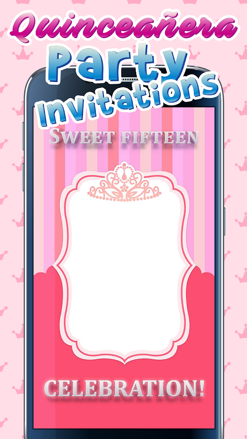 Quinceañera Party Invitations- screenshot