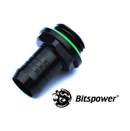 """Bitspower nippel, 1/4""""BSPx3/8""""ID, Matt Black"""