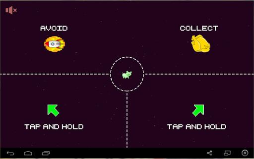 Animal in space avoid rocket