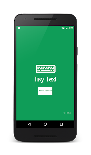 Tiny Text Keyboard app (apk) free download for Android/PC/Windows screenshot