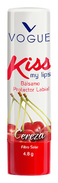 Brillo Vogue Protector   Labial Kiss Me Cereza X1Und.