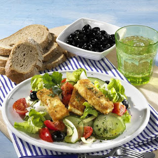 Greek Salad with Fried Feta