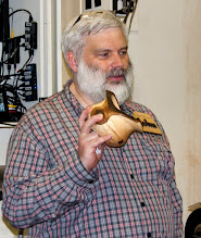 Photo: John Laffan was inspired to try last month's demo shape -- a winged, bark-edge vessel in maple!