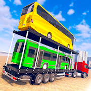 Vehicle Transporter Truck Driving: Bus Transport