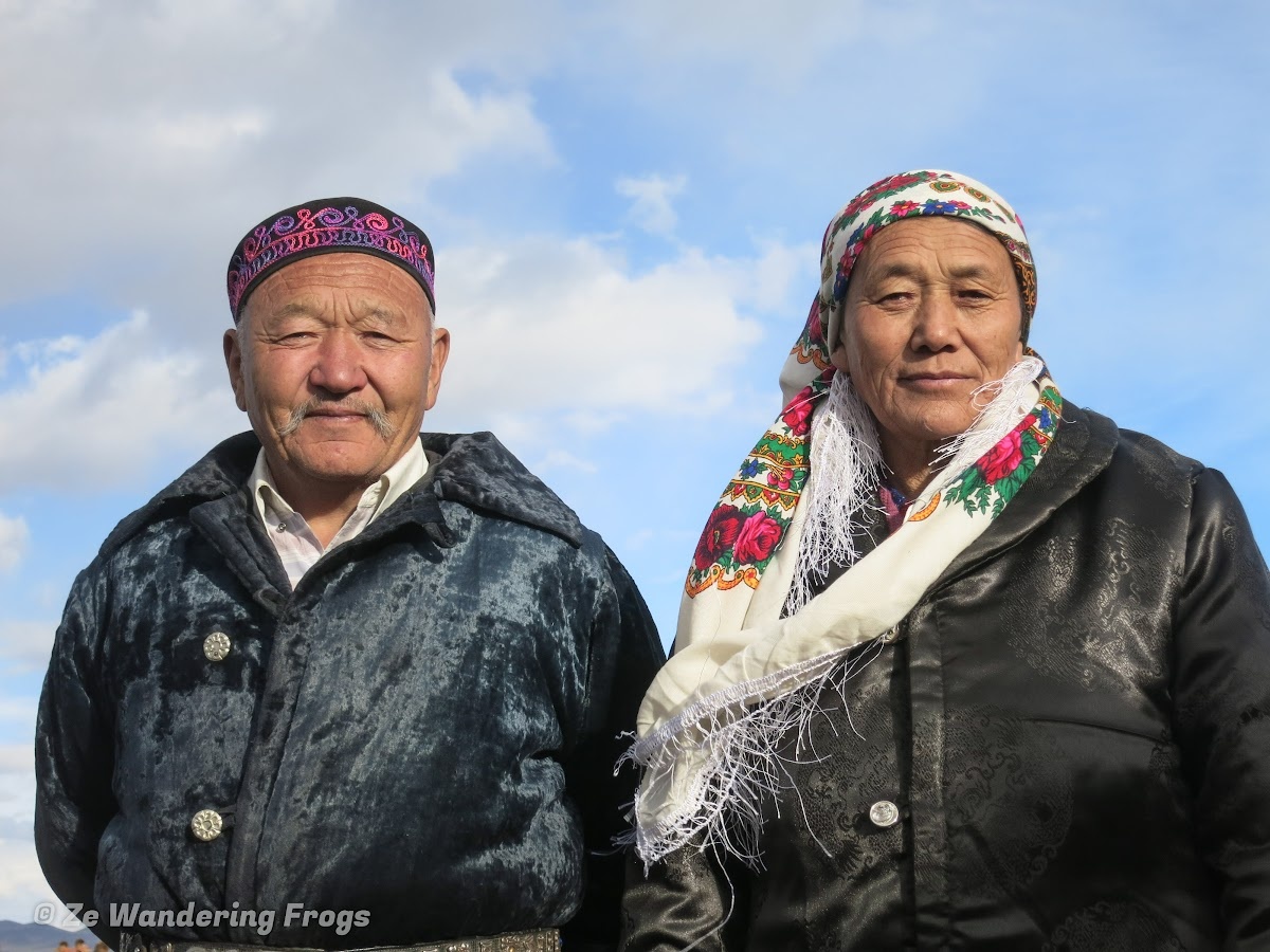 Mongolia. Golden Eagle Festival Olgii. Local Kazakh family