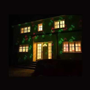Proiector metalic cu lumina laser - rosu verde, telecomanda inclusa