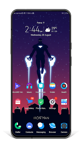MAN OF IRON EMUI 9 THEME 3 screenshots 2