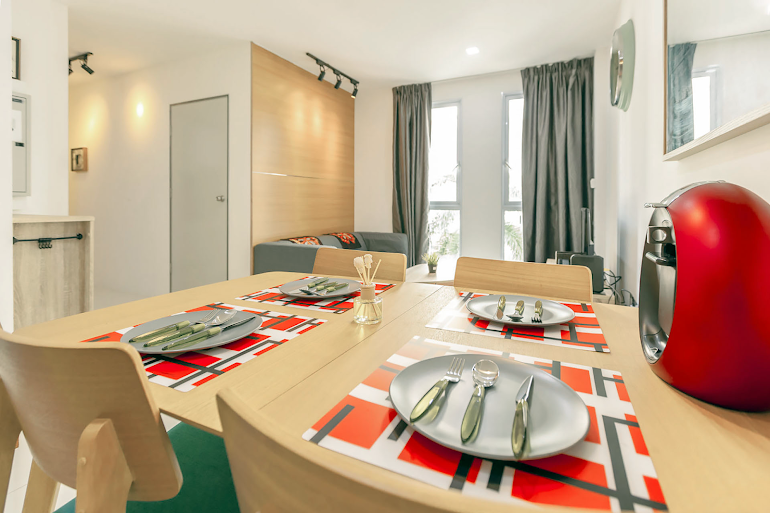 Dining area at Sims Avenue Serviced Residence, Orchard Road