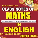 Rakesh Yadav Class Notes of Mathematics in English icon