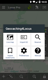 Locus Map - Add-on Geocaching4Locus – Miniaturansicht des Screenshots