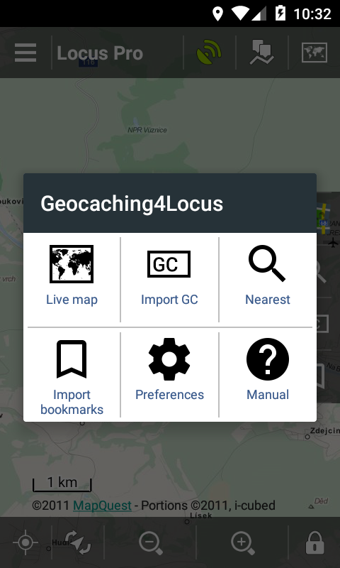 Locus Map - Add-on Geocaching4Locus – Screenshot
