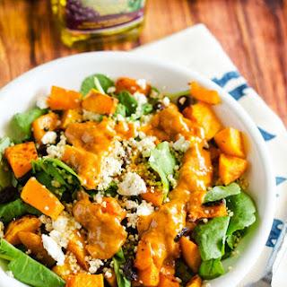 Quinoa & Butternut Squash with Maple Tahini Dressing
