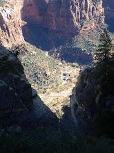 Photo: The descent