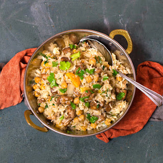 Spicy Moroccan Rice with Chicken & Apricots
