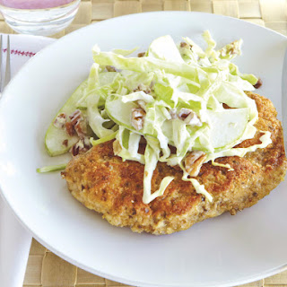 Pork Schnitzel with Pear Coleslaw.
