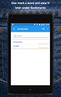 Pocket Thesaurus Screenshot