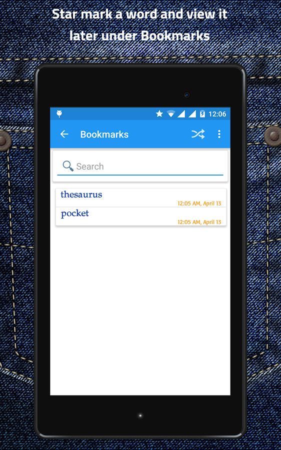 Pocket Thesaurus- screenshot