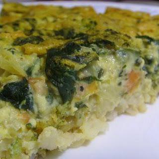 Vegan Spinach Quiche.