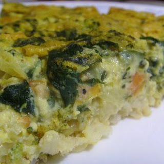 Vegan Spinach Quiche.