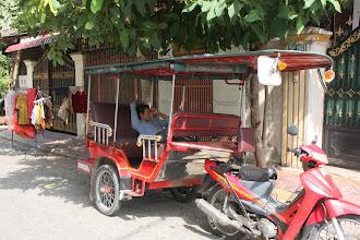 Photo: Year 2 Day 35- Arun Our Tuk Tuk Driver, Having a Sleep
