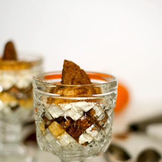 Pumpkin Spice Mascarpone Mousse with Ginger Molasses Cookies.