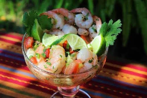 """Mexicano Shrimp Cocktail""""While chilling in the fridge the magic happens. The fresh..."""