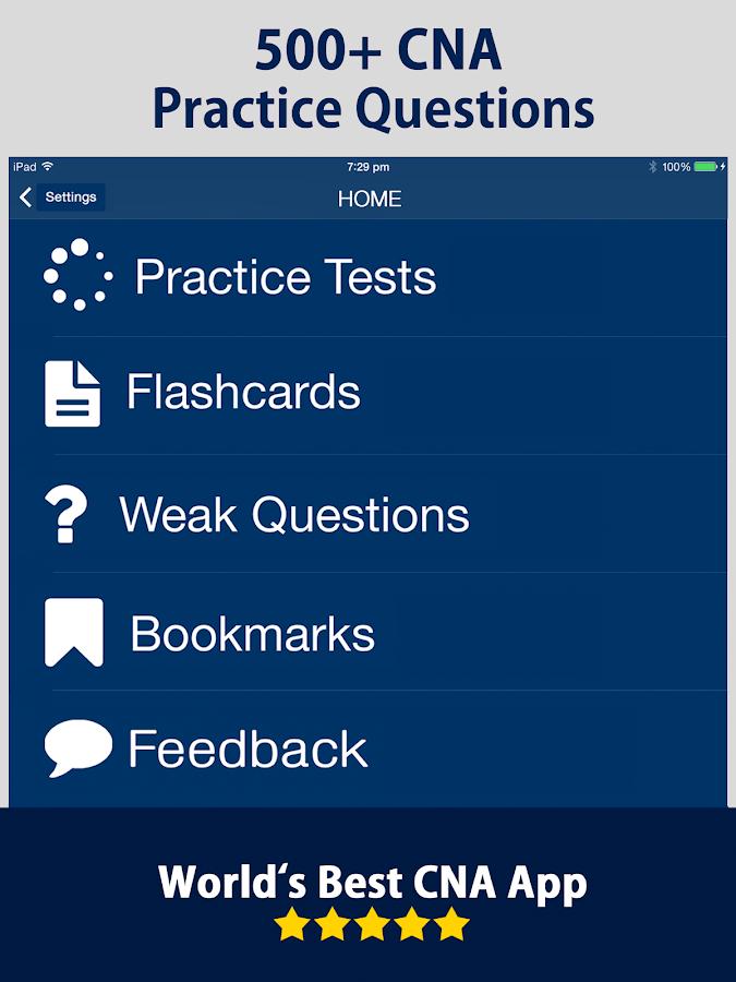 cna practice test prep 2017 screenshot - Cna Sample Questions