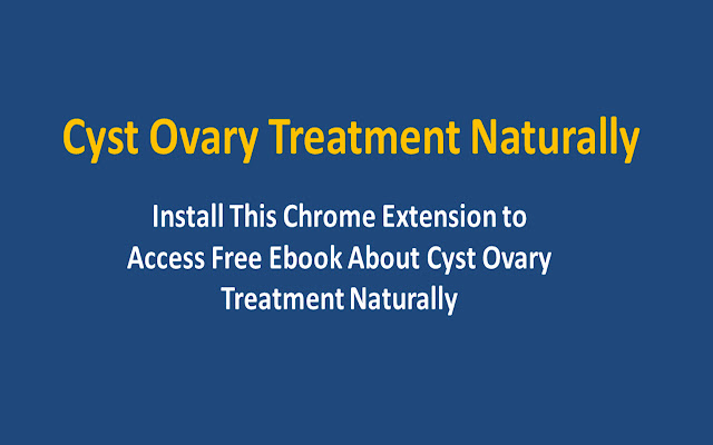 Cyst Ovary Treatment Naturally