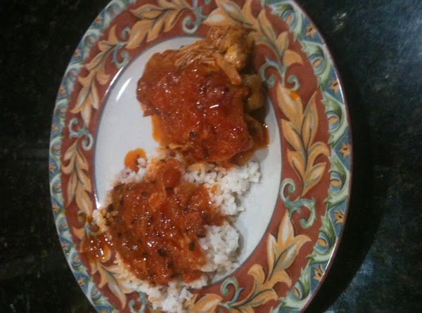 Serve hot over steamed rice.  Enjoy!