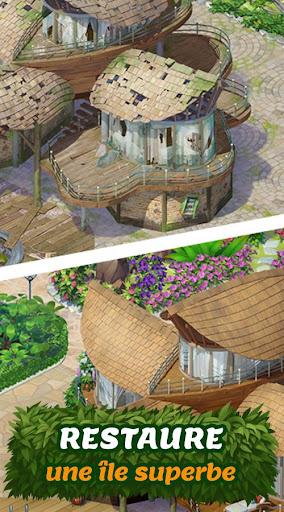 Tropical Forest: Histoire de Match 3  captures d'écran 1