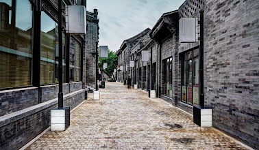 Photo: Clean, old street in China...