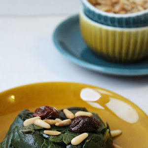 Sautéed Spinach with Raisins and Pine Nuts
