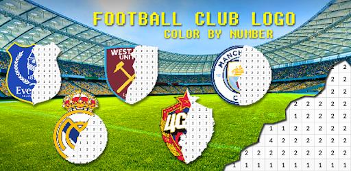 Logo De Football à Colorier Par Nombre Pixel Art