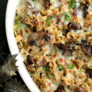 Cheesy Mushroom and Pea Orzo.