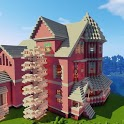 Fancy pink mansion icon