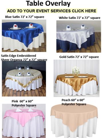 Table Linen Decor Events