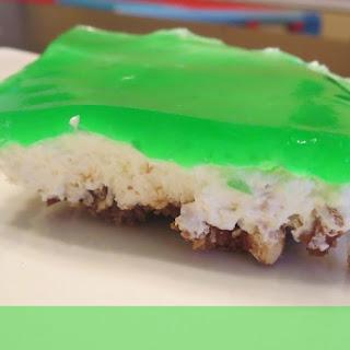 Lime Pretzel Jello Dessert.