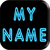 3D My Name Neon Live Wallpaper