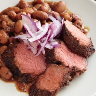 Coffee Rubbed Beef With Red-eye Beans