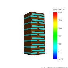 Photo: Anordnung der Lufteinschlüsse der simulierten Bauteilausschnitte Var 2